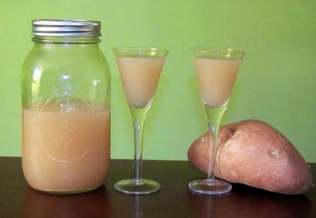Картофельный сок перед употреблением