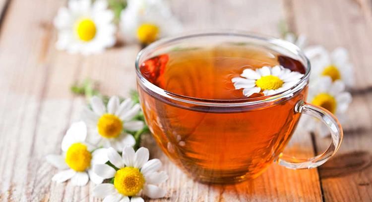 Свежий ромашковый чай