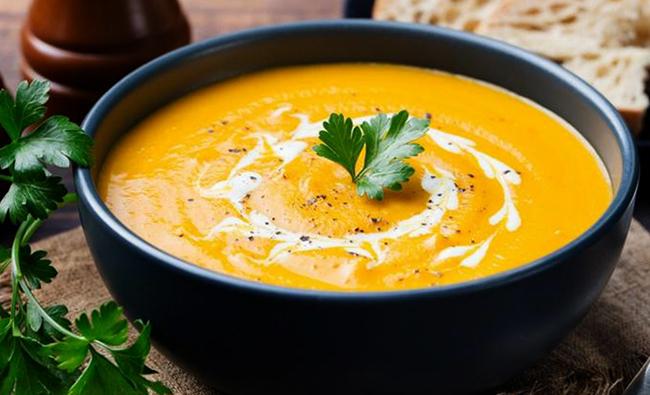 Готовый тыквенный суп