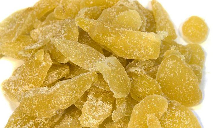 Много имбиря в сахаре