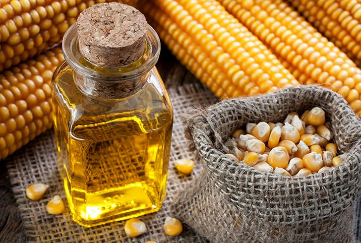Свежее кукурузное масло