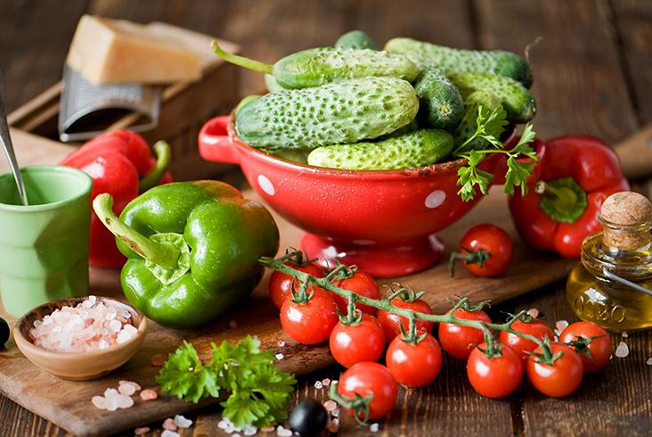 Много растительной еды