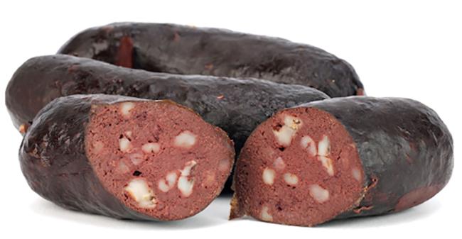 Нарезанная кровяная колбаса
