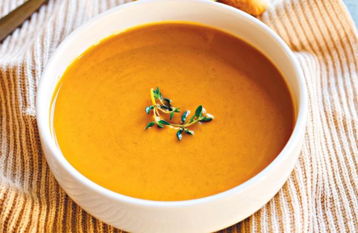 Свежий тыквенный суп