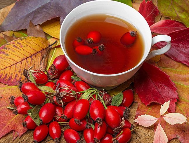 Свежий чай с шиповником