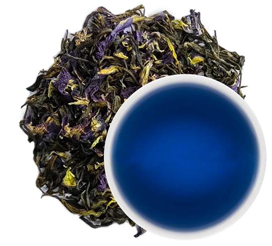 Свежий синий чай