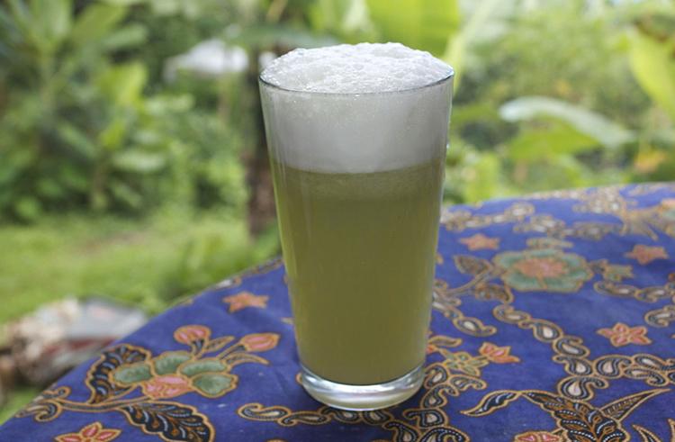 Стакан капустного сока