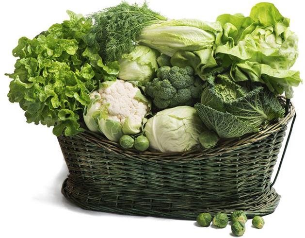 Свежие овощи с клетчаткой