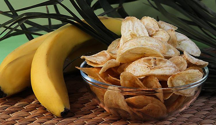Бананы и чипсы