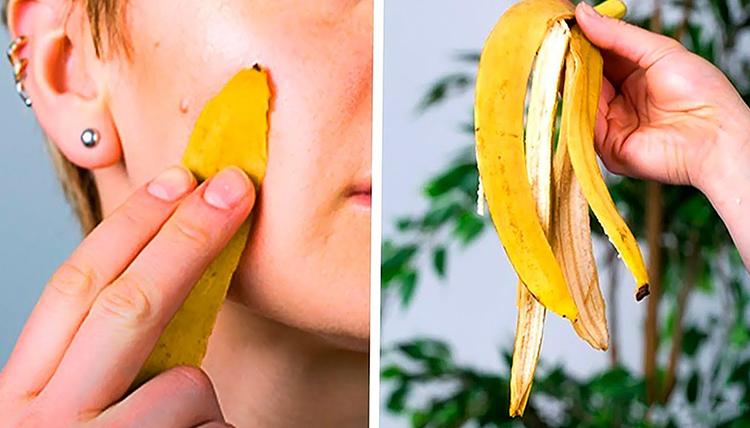 Банановая кожура для лица