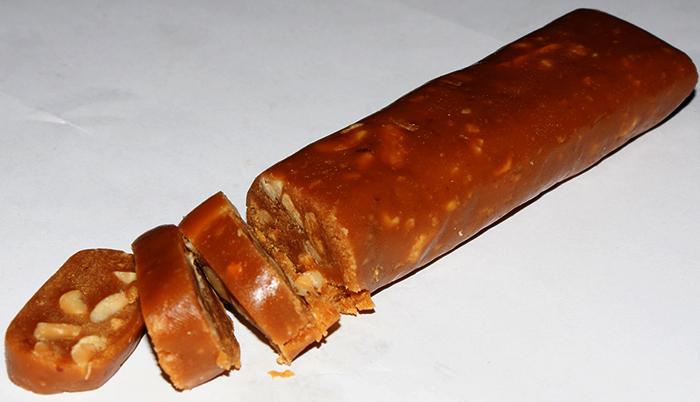 Щербет в виде колбаски