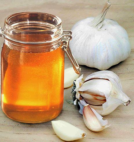 Мед и чеснок отдельно