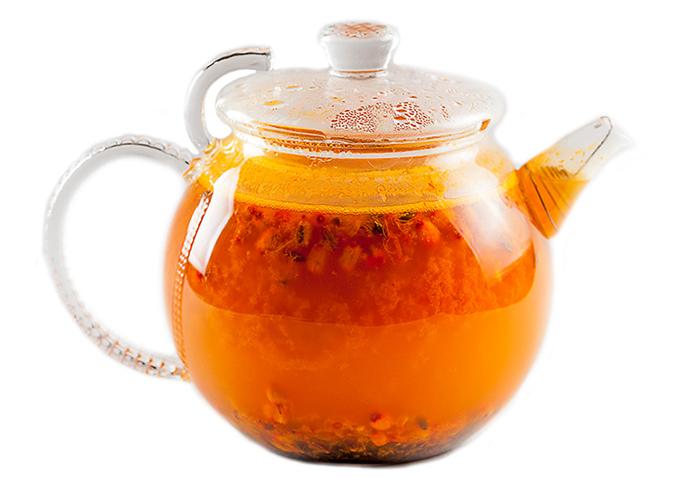 Горячий чай из облепихи