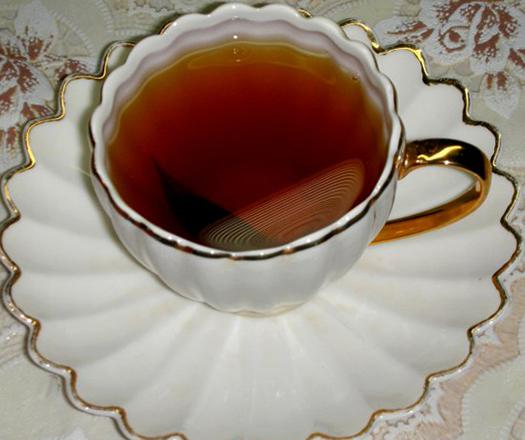 Готовый чай из веточек