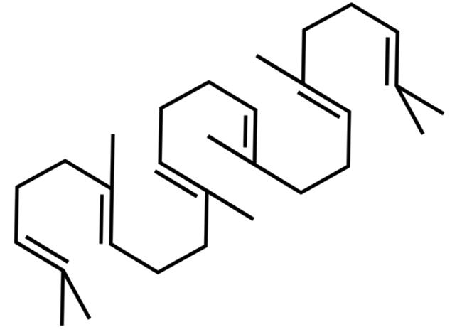 Химическая структура сквалена