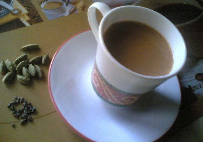 Кружка свежего чая