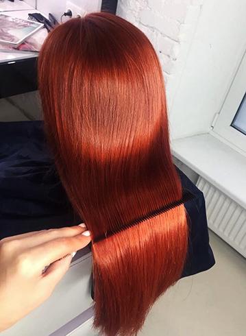 Ламинирование длинных волос
