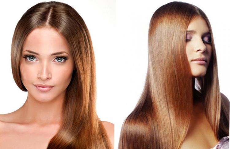 Девушка с ламинированным волосами