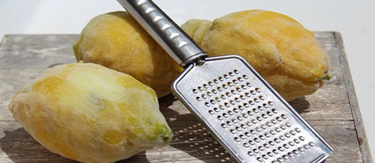Лимоны и терка