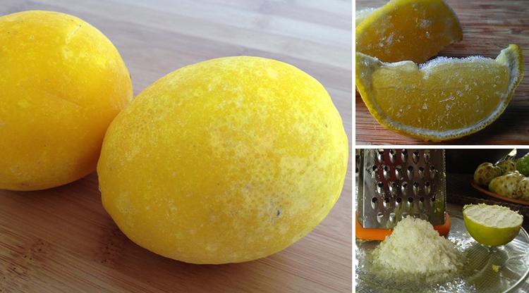 Лимон замороженный