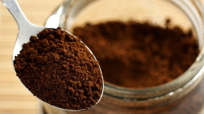 Ложка с кофе