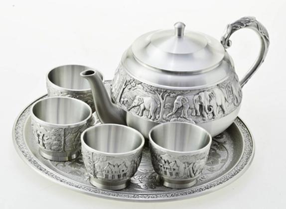 Набор для чая оловянный