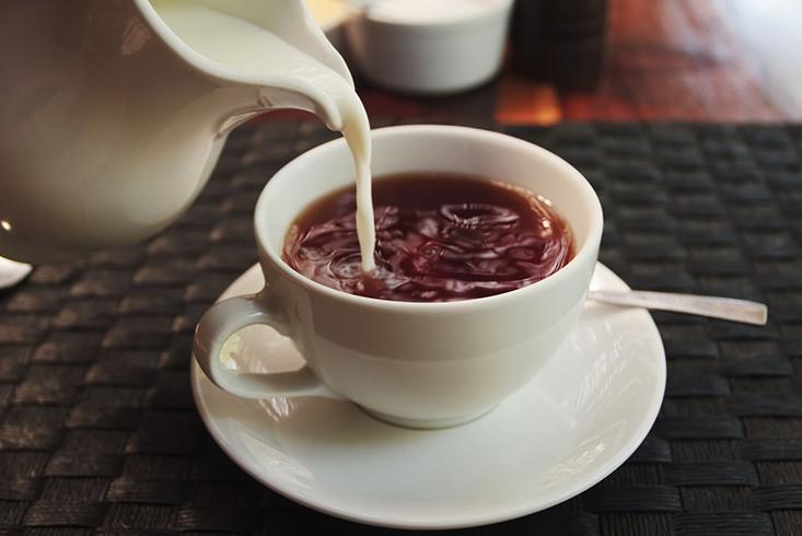 Наличие чая из молока