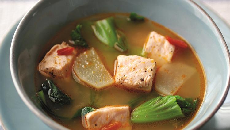 Суп с семгой