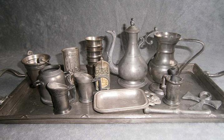 Старая оловянная посуда