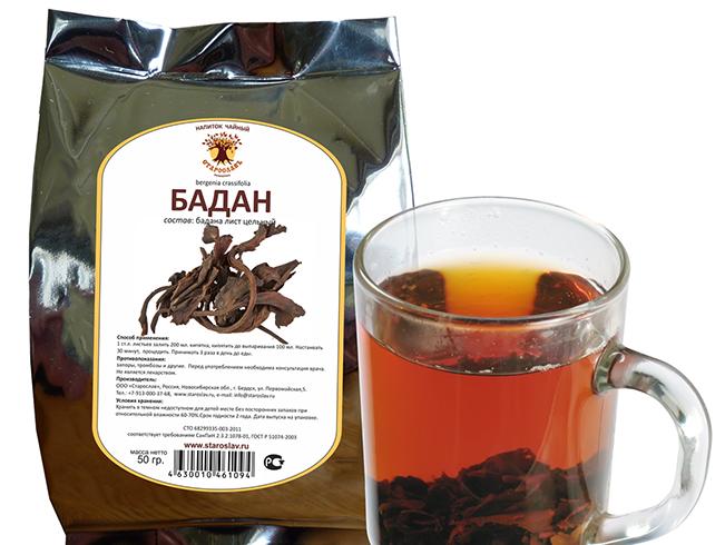 Напиток из бадана
