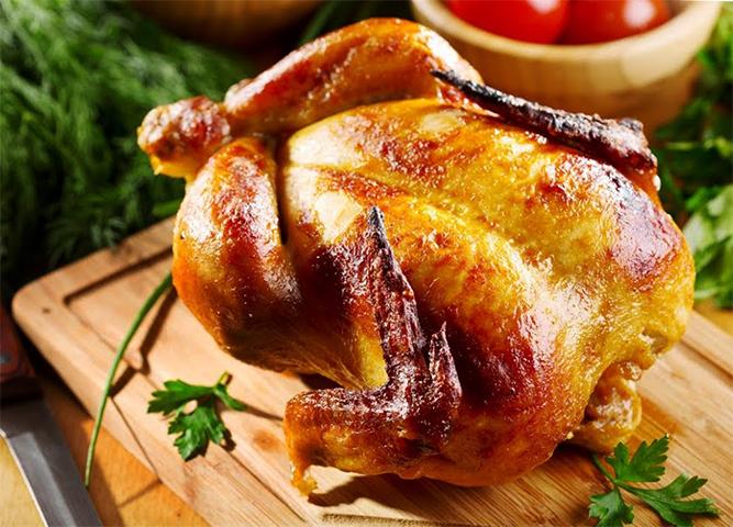 Свежая курица гриль