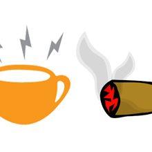 Что вреднее для организма кофеин или никотин?