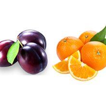 Что полезней для здоровья слива или апельсин?