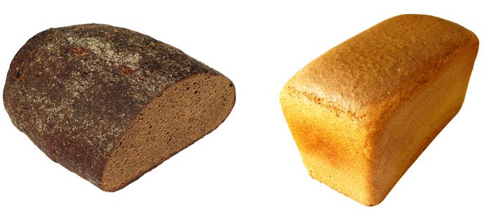 Черный и белый хлеб