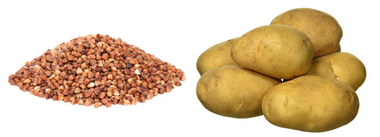 Гречка и картошка