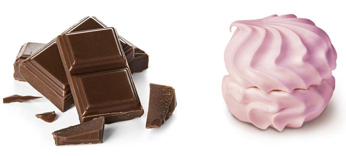 Шоколад и зефир