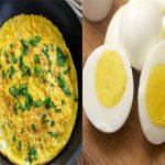 Омлет или вареное яйцо — что полезнее?