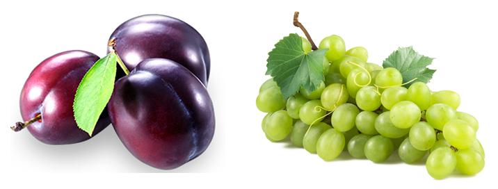 Слива и виноград