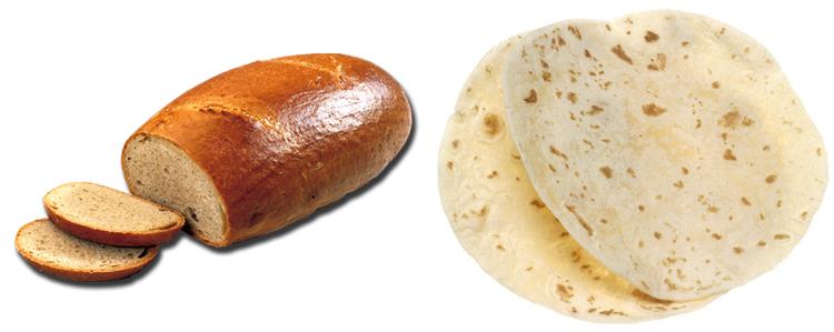Хлеб и лаваш