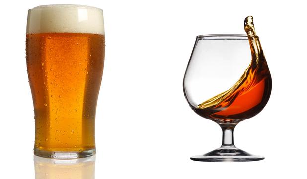 Пиво и коньяк