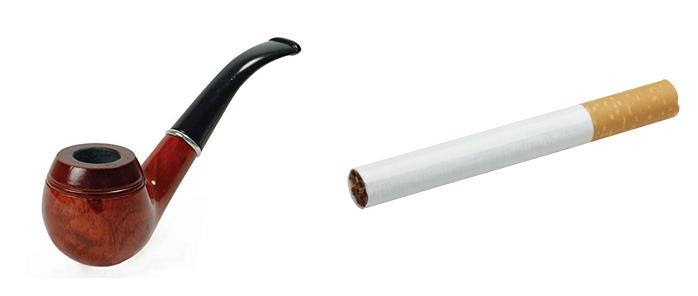 Трубка и сигарета