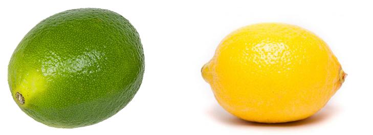 Лайм и лимон