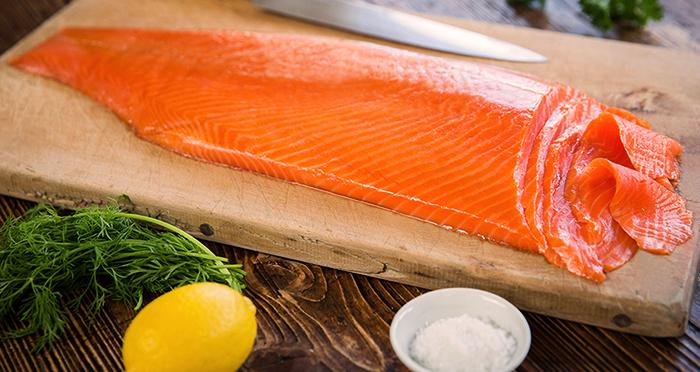 Готовая к употреблению лосось