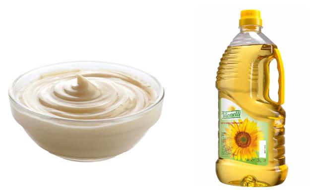 Майонез и растительное масло