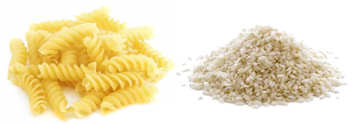 Макароны и рис
