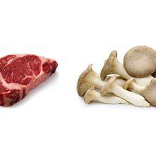 Что полезнее кушать мясо или грибы?
