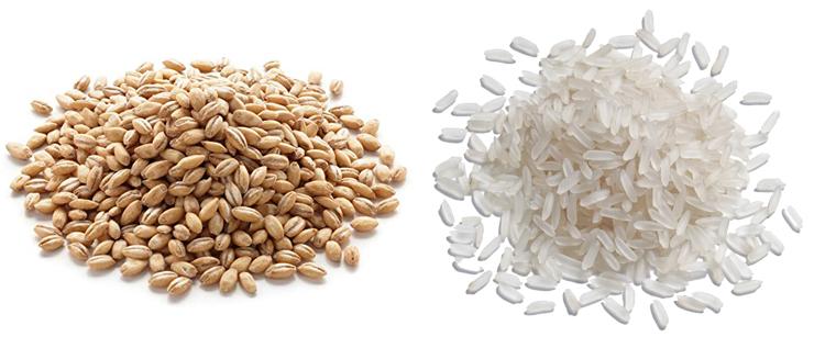 Перловка и рис