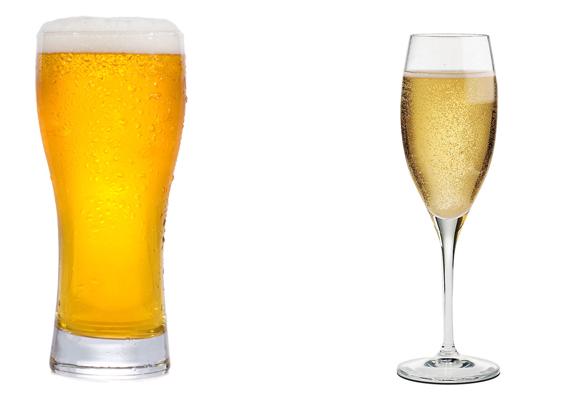 Пиво и шампанское