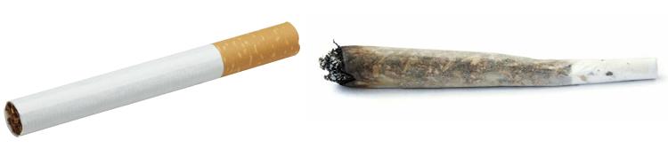 Сигарета и самокрутка