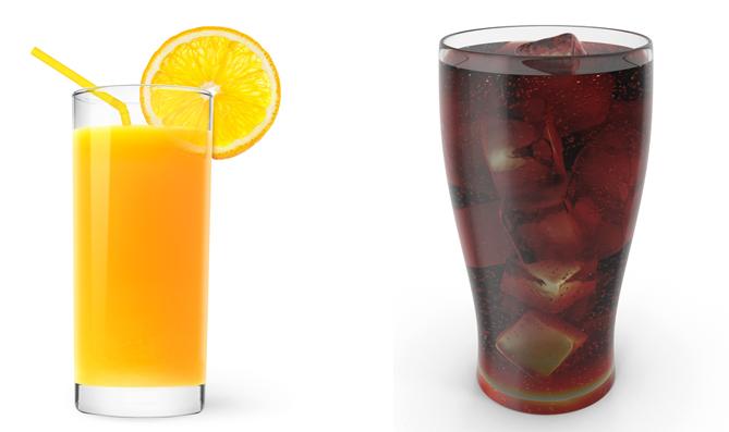 Сок и газировка